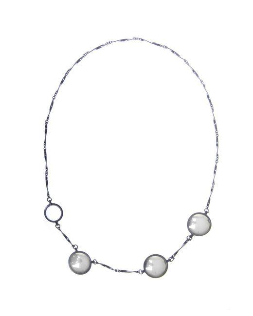 Bottega Veneta - Metallic Silver Necklace With Pendants - Lyst