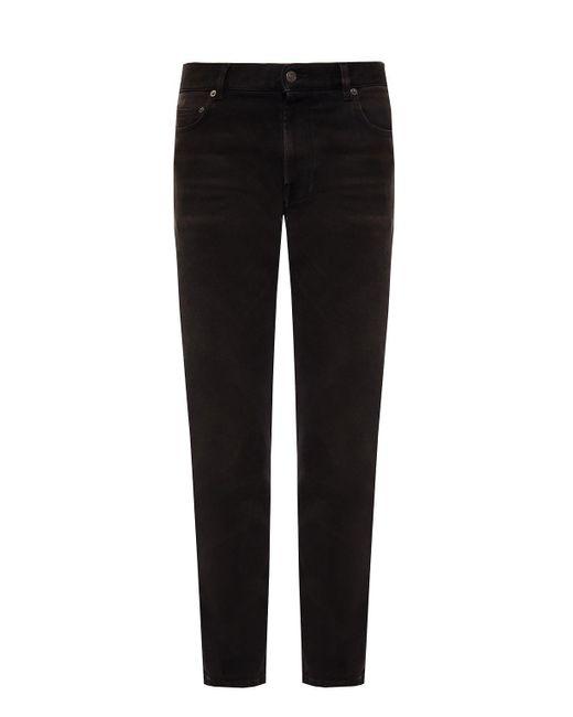 Balenciaga Black Stonewashed Jeans for men