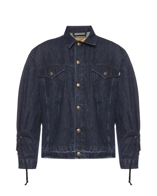 McQ Alexander McQueen Blue Tie-up Denim Jacket