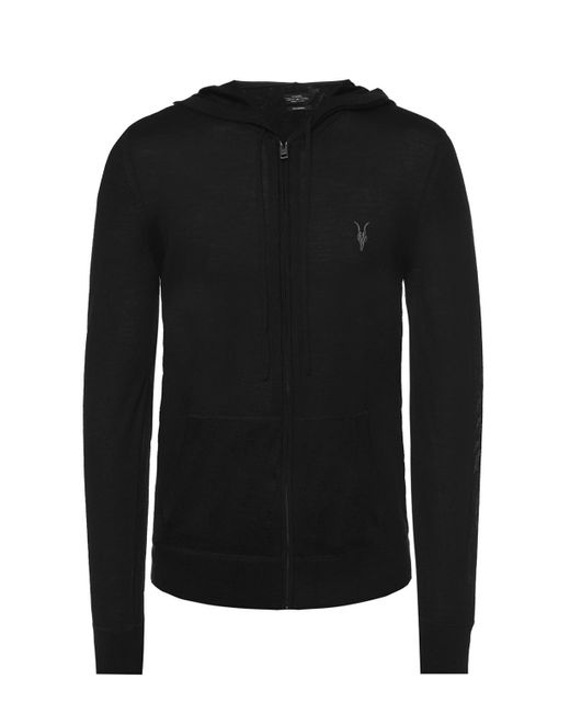 AllSaints 'mode' Logo-embroidered Sweatshirt Black for men