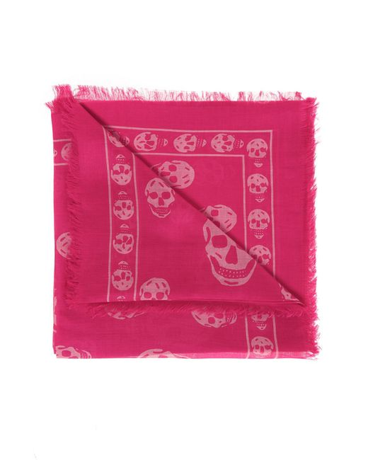 Alexander McQueen - Pink Patterned Scarf - Lyst
