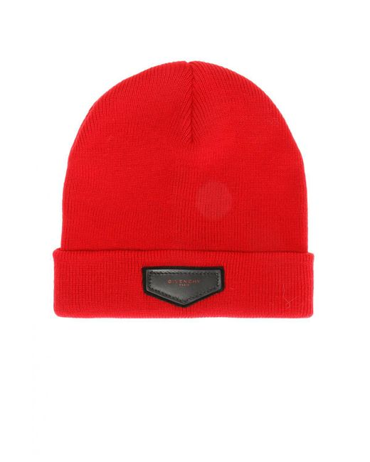 Givenchy - Red Logo-patched Hat for Men - Lyst
