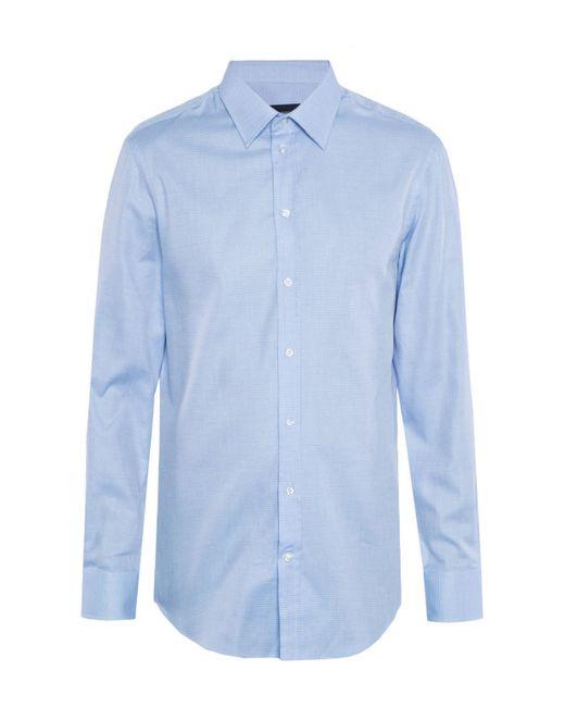Emporio Armani - Blue Classic Shirt for Men - Lyst