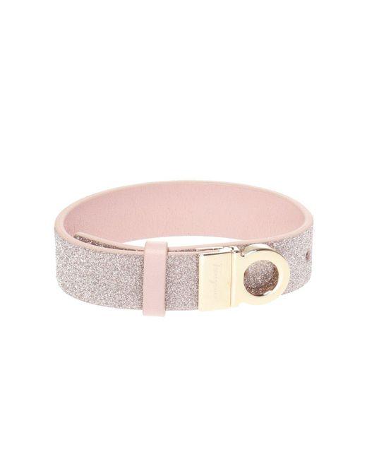 Ferragamo Pink 'gancini' Bracelet