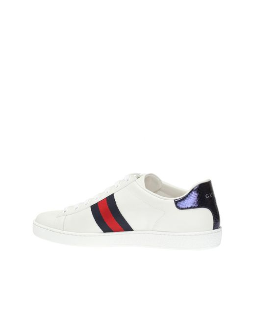 b1147bd1f30 Lyst - Gucci  ace  Snake Motif Sneakers in White - Save 1%