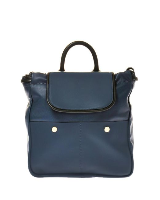 Marni - Blue Leather Backpack - Lyst