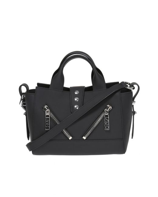 KENZO - Black Mini Kalifornia Rubberized Leather Bag - Lyst