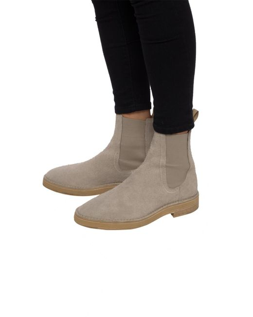 7a5ba1a47 ... Yeezy - Multicolor Suede Chelsea Boots for Men - Lyst ...