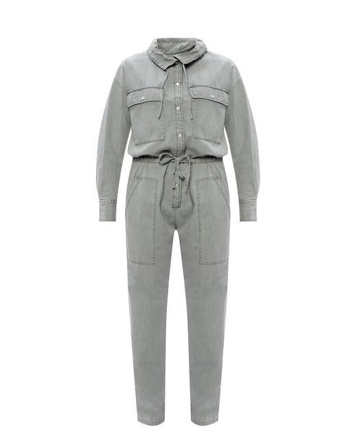 Étoile Isabel Marant Gray Denim Jumpsuit Grey