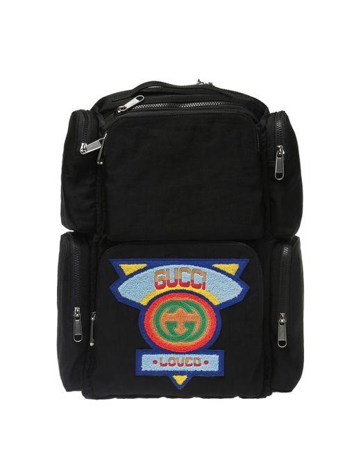 Gucci - Black Logo-patched Backpack for Men - Lyst ... 53cb13729bdfa