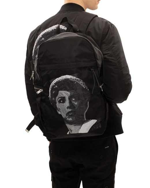 Undercover Printed Backpack Black for men