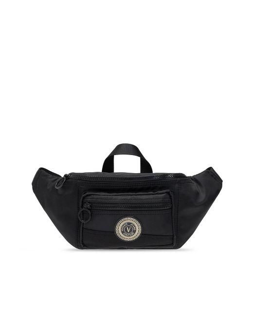 Versace Jeans Belt Bag With Logo Black for men