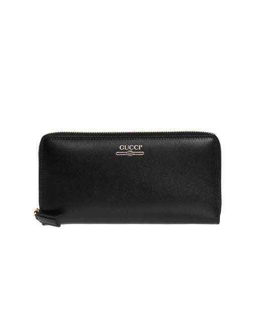 0ba0bc252 Gucci - Black Logo Wallet for Men - Lyst ...