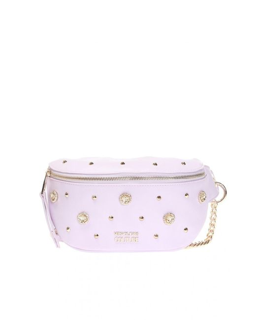 Versace Jeans Pink Belt Bag With Logo
