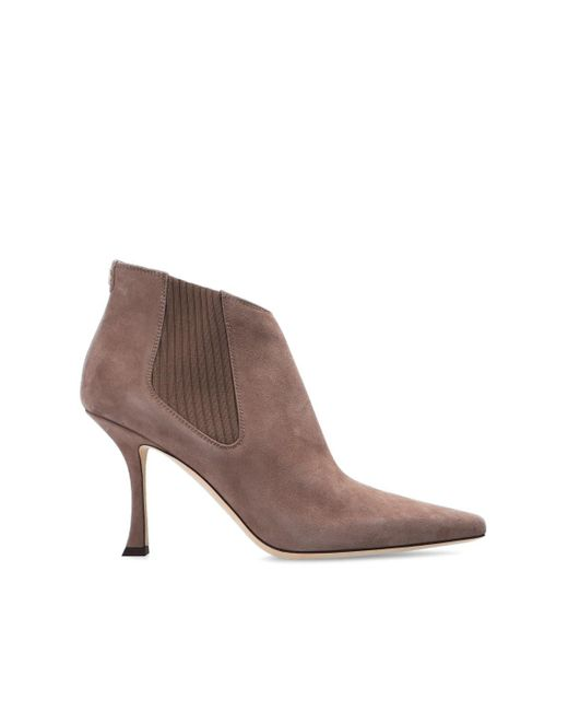 Jimmy Choo 'maiara' Stiletto Ankle Boots Brown