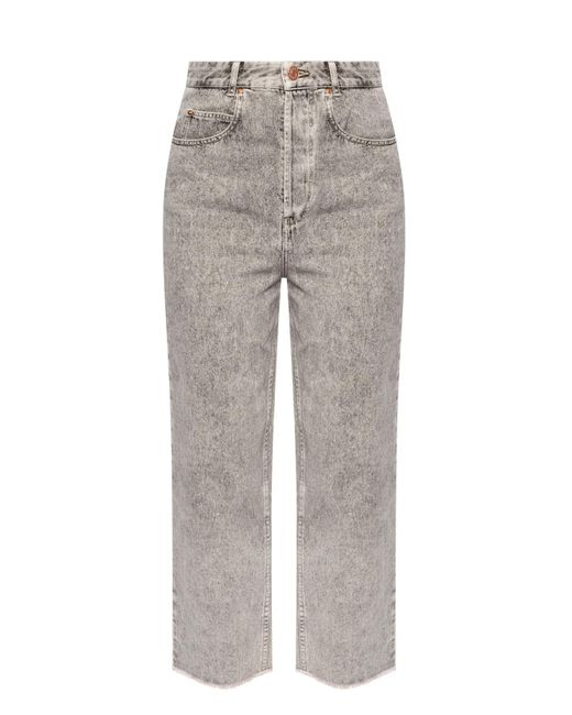 Isabel Marant Gray Worn Effect Jeans