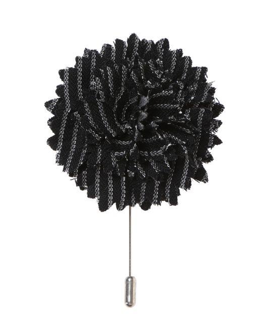 Lanvin - Black Embellished Copper Pin for Men - Lyst