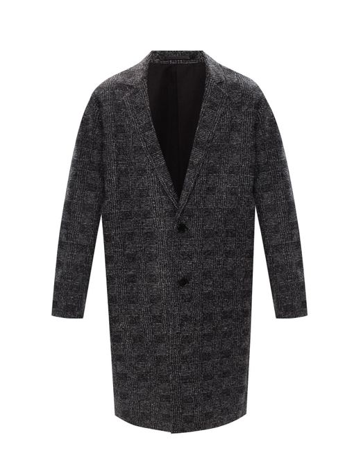 AllSaints Gray 'remmington' Notched Lapel Coat for men