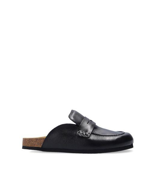 J.W. Anderson Leather Slides Black