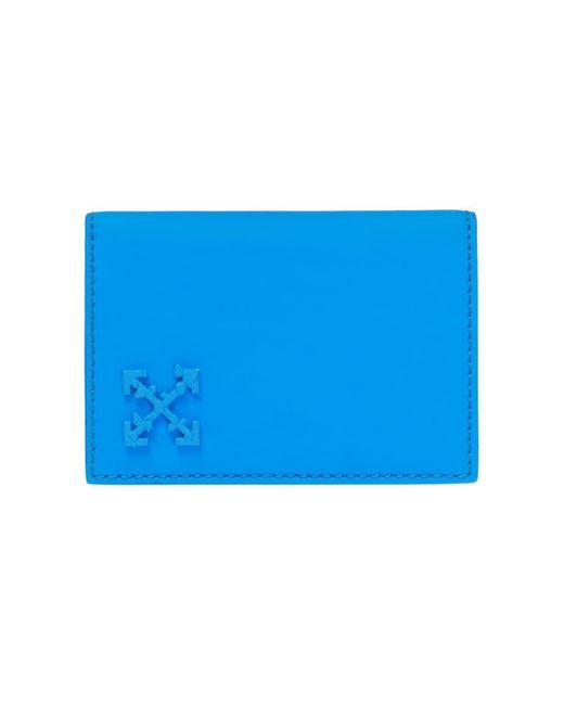 f22035abadd2 Off-White c o Virgil Abloh - Blue Branded Folding Card Case - Lyst ...