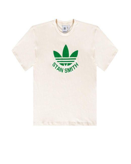 Adidas Originals Natural T-shirt With Logo Cream for men
