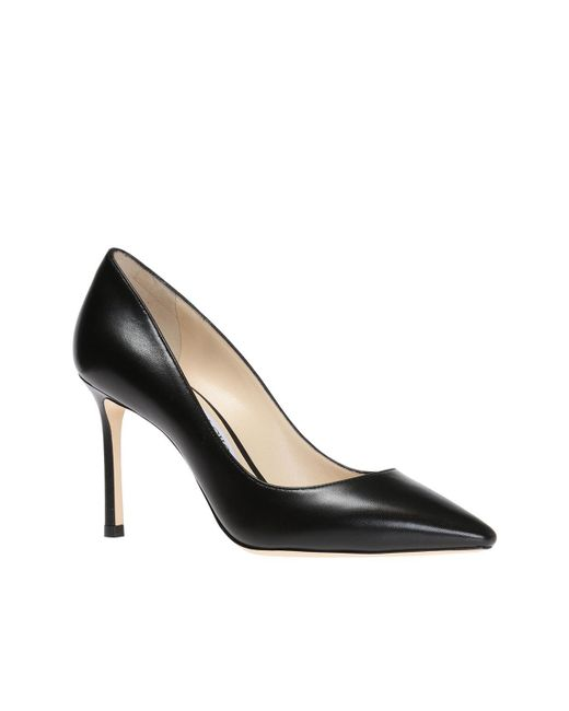 Jimmy Choo Black Romy 85 Velvet Pumps