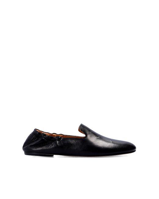 Maison Margiela Leather Shoes With Logo Black