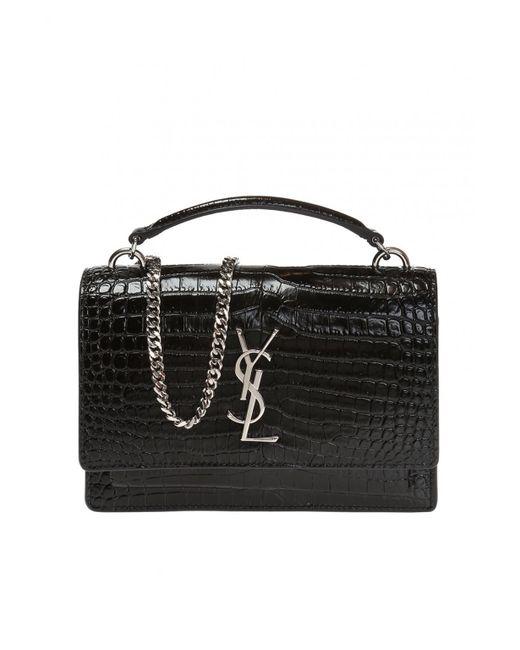Saint Laurent Black 'sunset Monogram' Handbag