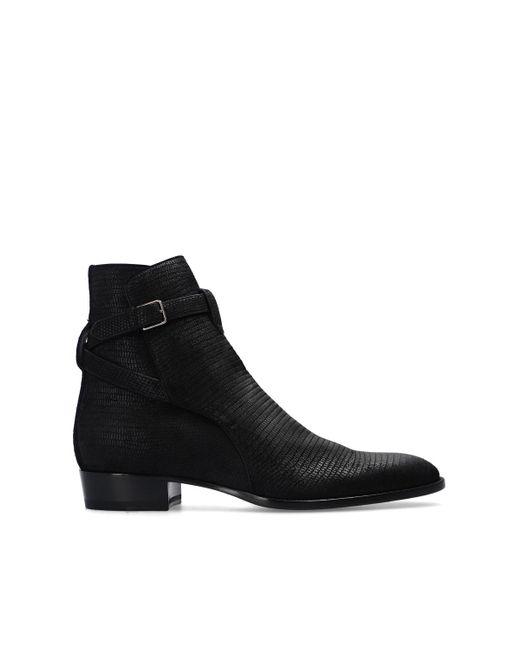 Saint Laurent 'wyatt' Ankle Boots Black for men