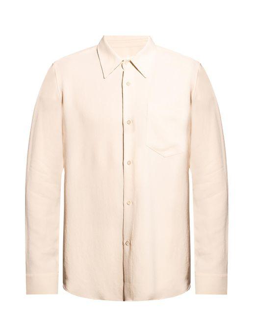 AMI Natural Shirt With Pocket for men