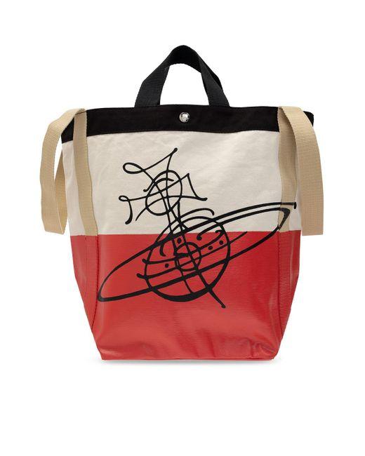 Vivienne Westwood Natural Shopper Bag Beige