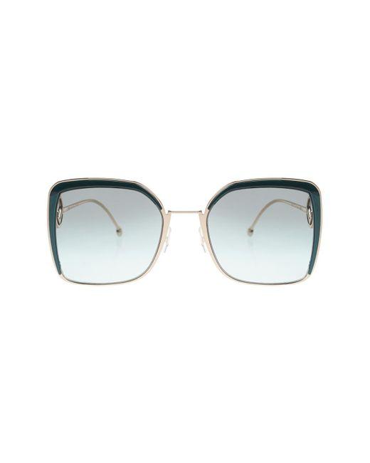 Fendi Green 'f Is ' Sunglasses