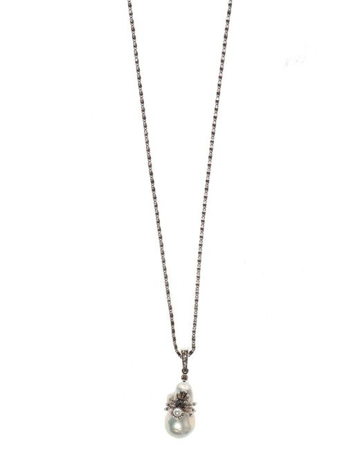 Alexander McQueen Metallic Spider Motif Necklace