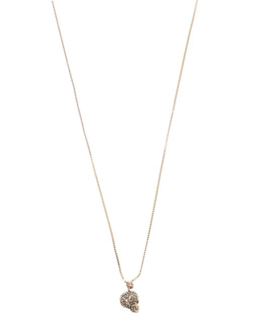Alexander McQueen Metallic Skull Motif Necklace