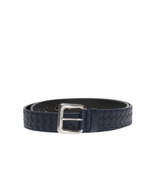 Bottega Veneta - Blue 'intrecciato' Belt for Men - Lyst