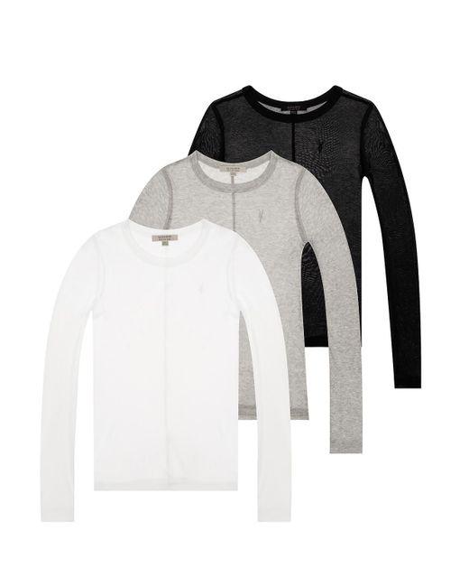 AllSaints Multicolor 'francesco' T-shirt Three-pack Multicolour