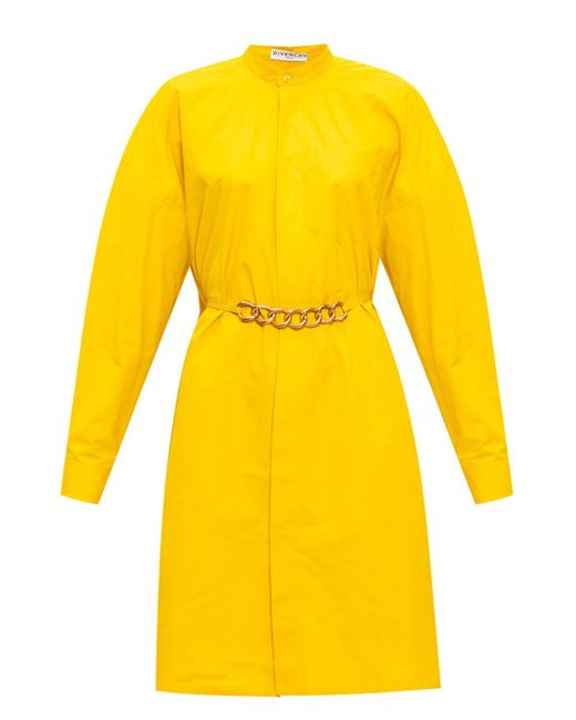 Givenchy Yellow Dress With Band Collar