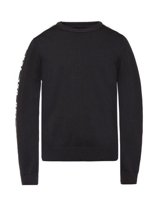 DIESEL Black Branded Sweater for men