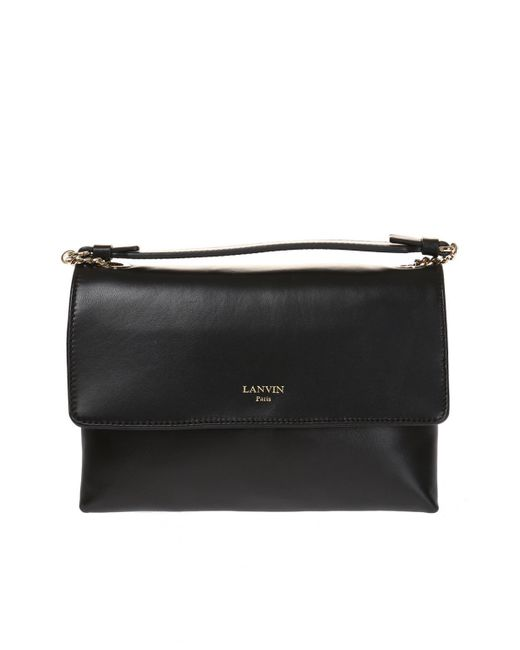 Lanvin - Black 'sugar' Shoulder Bag - Lyst
