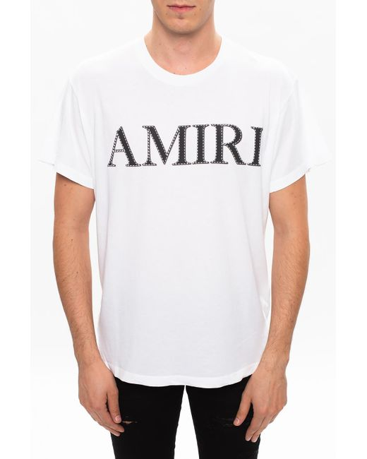 Amiri White Logo T-shirt for men