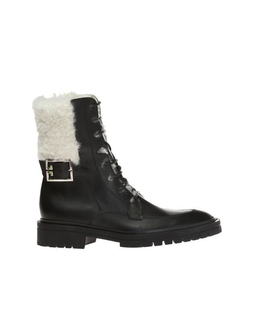 Givenchy Black Lace-up Biker Boots