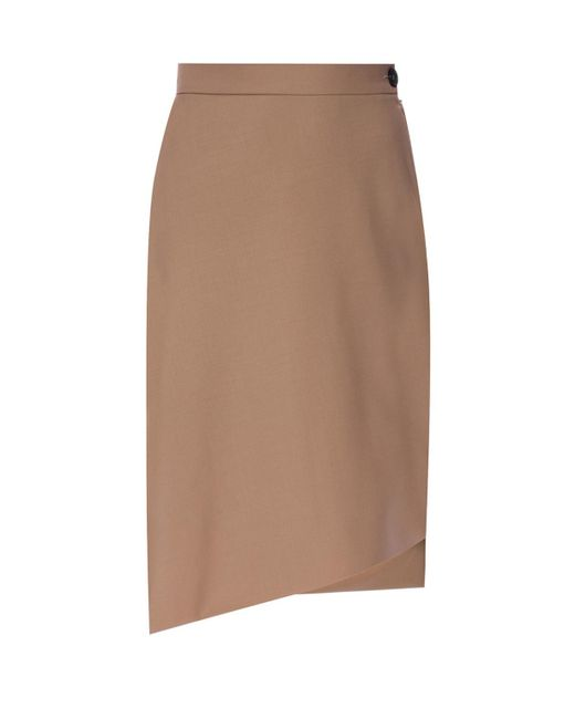Vivienne Westwood - Brown Skirt With Cut-out Details - Lyst
