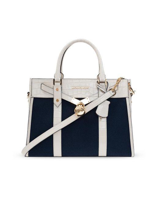 MICHAEL Michael Kors 'nouveau Hamilton' Shoulder Bag Navy Blue