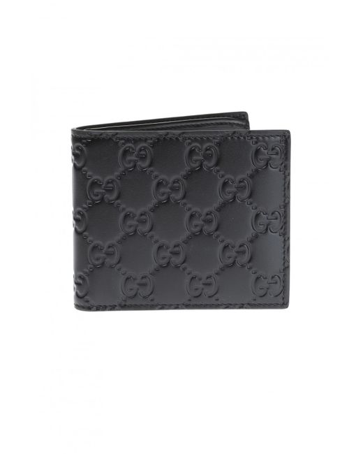 Gucci Black 'ssima' Leather Wallet for men