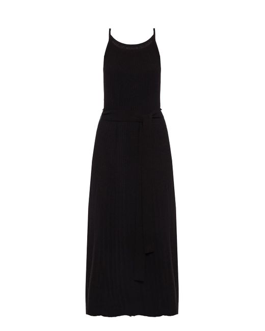 Theory Black Dress With Tie Fastening