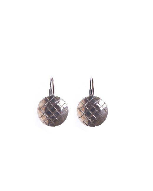 Bottega Veneta - Metallic Silver Earrings - Lyst