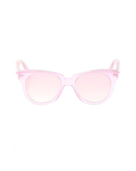 Philipp Plein Pink Patterned Sunglasses