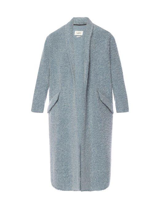 Étoile Isabel Marant Blue Coat With A Shawl Collar