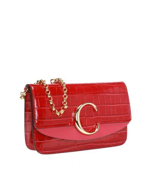 fad2e6aa Chloé 'chloé C' Shoulder Bag in Red - Lyst