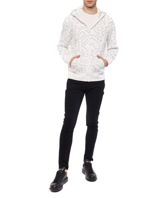 050a5f1e479f6 ... Michael Kors - White Hooded Sweatshirt for Men - Lyst ...